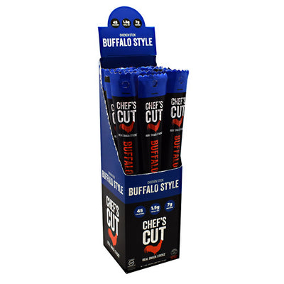 Chefs Cut Real Jerky Chicken Stick Real Snack Sticks - Buffalo Style - 16 ea - 40858959005380