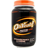 ISS Research OhYeah! Protein Powder - Strawberries & Creme - 2.4 lb - 788434111010