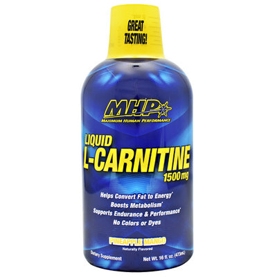 MHP Liquid L-Carnitine - Pineapple Orange - 16 fl oz - 666222008875