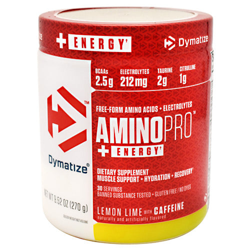 Dymatize AminoPro + Energy - Lemon Lime - 30 Servings - 705016180066
