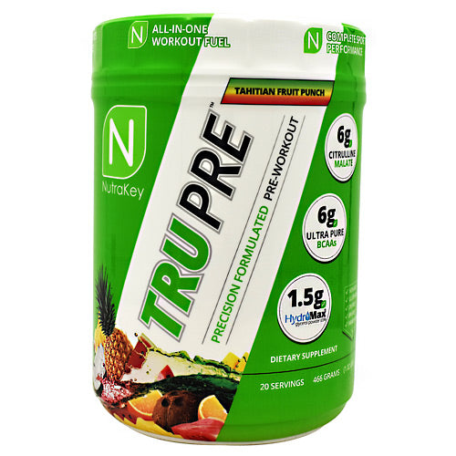 Nutrakey TRU Pre - Tahitian Fruit Punch - 20 Servings - 851090006782
