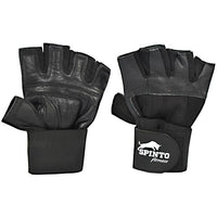 Spinto USA, LLC Mens Weight Lifting Gloves with Wrist Wraps - Black, (L) - 1 ea - 646341998684