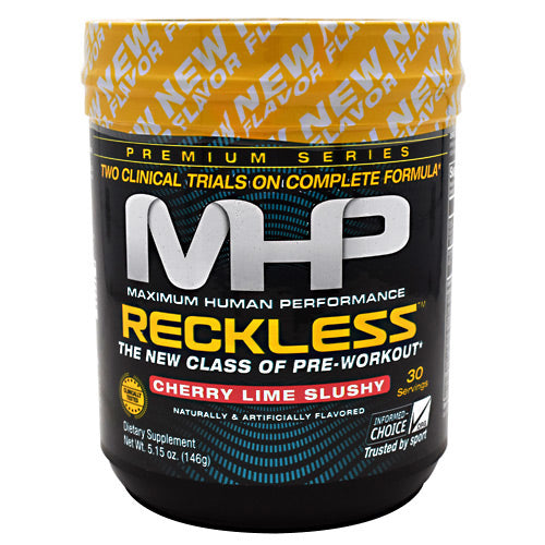 MHP Premium Series Reckless - Cherry Lime Slushy - 30 Servings - 666222008059