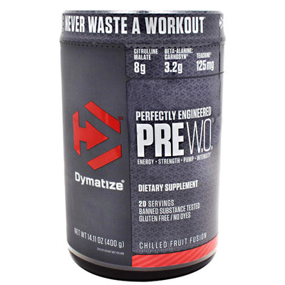 Dymatize Pre W.O. - Chilled Fruit Fusion - 20 Servings - 705016171026