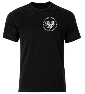 British Dragon Tshirt Black