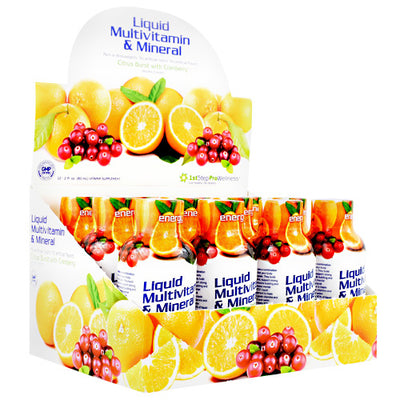 High Performance Fitness Liquid Multi-Vitamin & Mineral - Citrus Burst with Cranberry - 12 Bottles - 673131100484