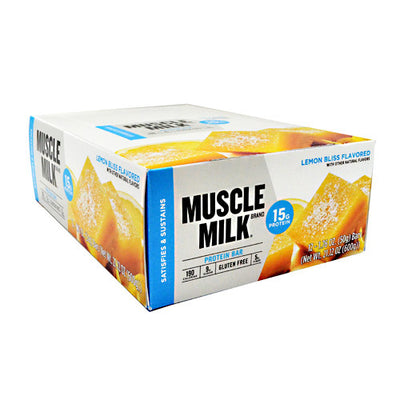 Cytosport Blue Muscle Milk Bar - Lemon Bliss - 12 Bars - 660726525418