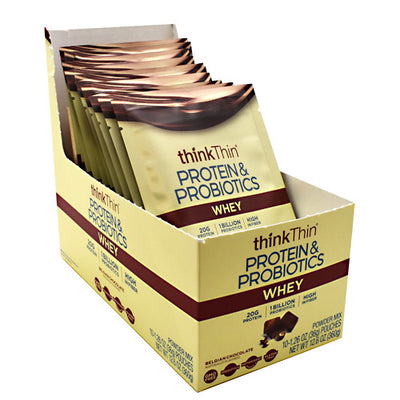 Think Products Whey Protein & Probiotics - Belgian Chocolate - 10 ea - 753656713595
