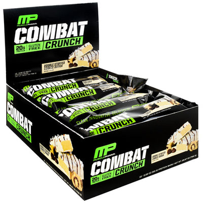 MusclePharm Combat Crunch - Double Stuffed Cookie Dough - 12 Bars - 810002500091