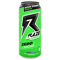 Repp Sports Raze Energy - Sour Gummy Worms - 12 Cans - 854531008376