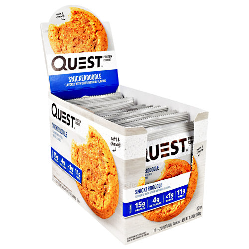 Quest Nutrition Quest Protein Cookie - Snickerdoodle - 12 ea - 888849007745