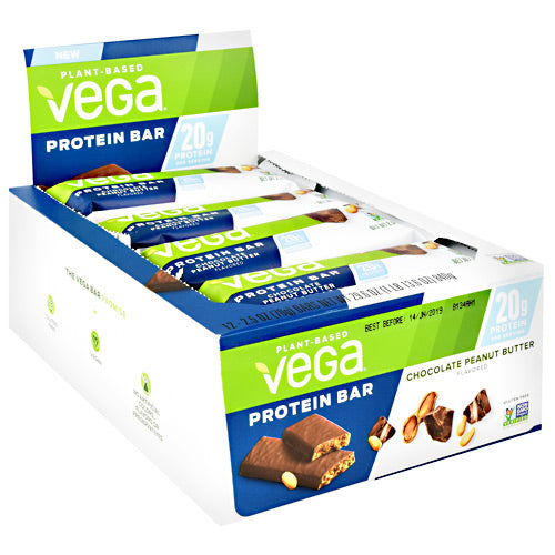 Vega Protein  Bar - Chocolate Peanut Butter - 12 Bars - 838766080833
