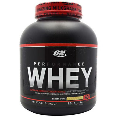 Optimum Nutrition Performance Whey - Vanilla Shake - 4.19 lb - 748927024401