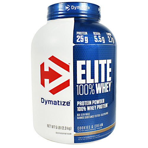 Dymatize Elite 100% Whey - Cookies & Cream - 5 lb - 705016560110