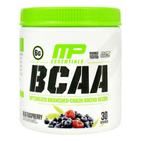 MusclePharm Essentials BCAA - Blue Raspberry - 30 Servings - 856737003834