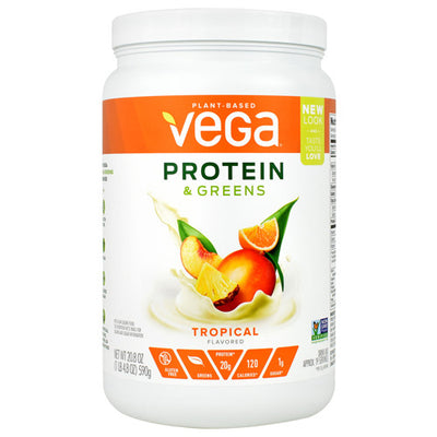 Vega Protein and Greens - Tropical - 19 Servings - 838766006444