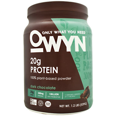 Only What You Need Plant Protein - Dark Chocolate - 14 Servings - 857335004230