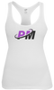 PM4HER Tank White & Purple Logo