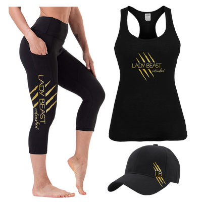 Lady Beast Combo - Tank, Capris and Cap