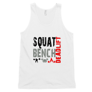 Squat, Bench, Deadlift
