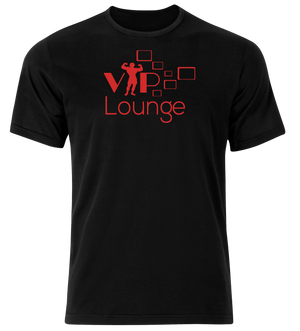 VIP Lounge Tshirt Black & Red
