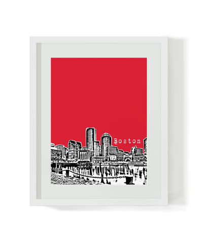 Boston Massachusetts Skyline City Poster