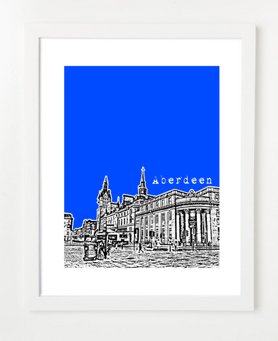 Aberdeen Poster -  Scotland Skyline Art Print and Poster | By BirdAve Posters