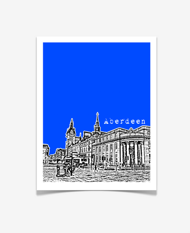Aberdeen Scotland UK Poster print