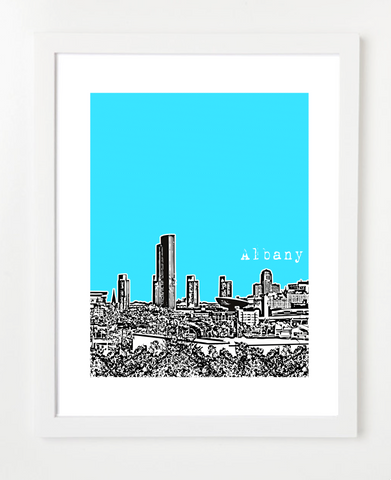 Albany New York USA Skyline Art Print and Poster | By BirdAve Posters