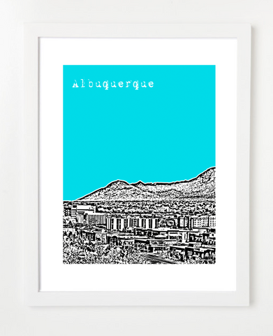 Albuquerque New Mexico USA  Skyline Art Print and Poster | By BirdAve Posters