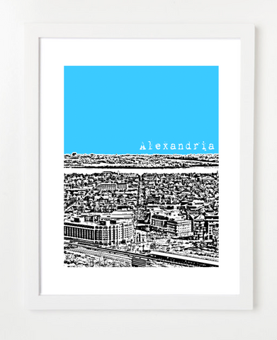 Alexandria Virginia USA Skyline Art Print and Poster