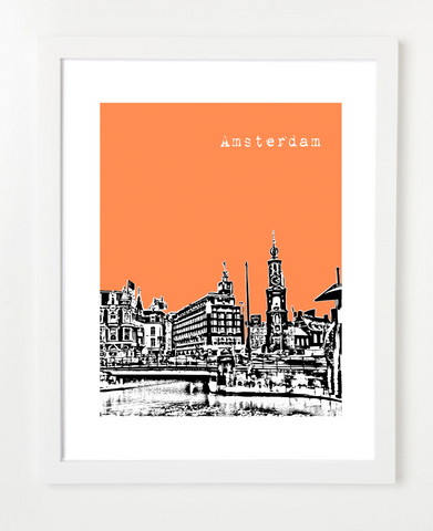 Amsterdam Netherlands Skyline Art Print and Poster | By BirdAve Posters