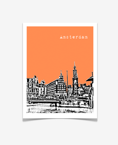 Amsterdam Netherlands Europe Poster
