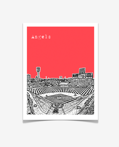 Los Angeles Angels of Anaheim Angels Stadium Poster