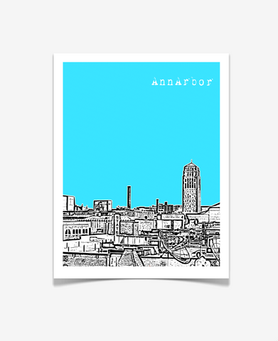 Ann Arbor Michigan Poster