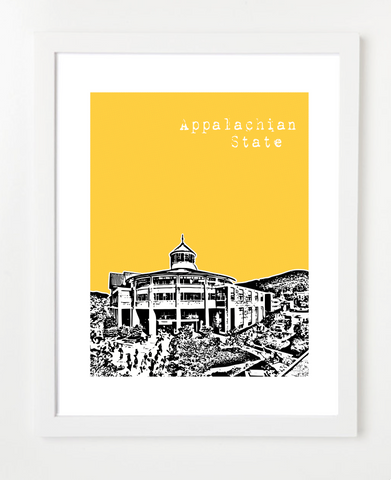 Appalachian State University North Carolina Skyline Art Print and Poster | By BirdAve Posters