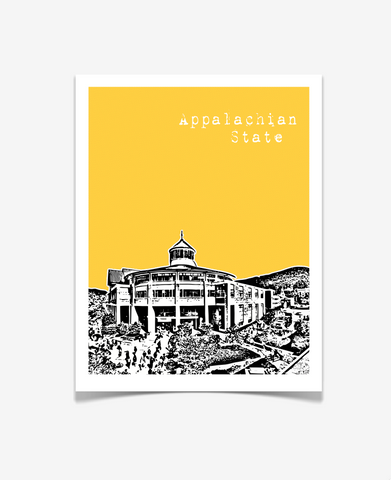 Boone North Carolina Appalachian State University Poster