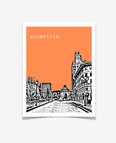 Asheville North Carolina Poster Version 2