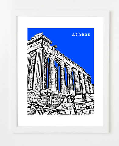 Athens Greece Europe Skyline Art Print and Poster | By BirdAve Posters