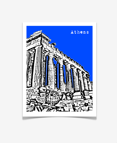 Athens Greece Europe Poster VERSION 1