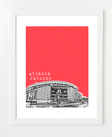 Atlanta Falcons Skyline Art Print and Poster | By BirdAve Posters