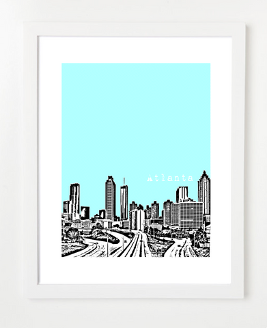 Atlanta Georgia Skyline Art Print and Poster | By BirdAve Posters