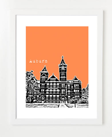 Auburn University Samford Skyline Art Print and Poster | By BirdAve Posters
