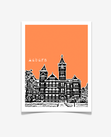 Auburn University Samford Hall Poster