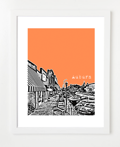 Auburn Alabama USA Skyline Art Print