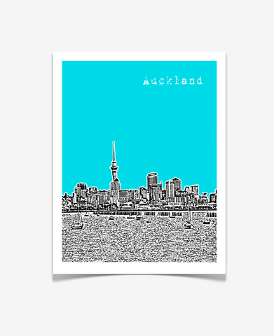 Auckland New Zealand Poster