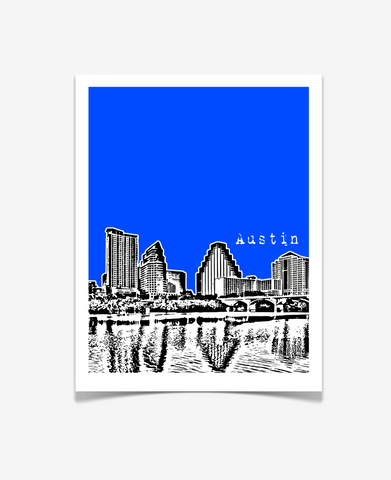 Austin Texas Poster VERSION 2