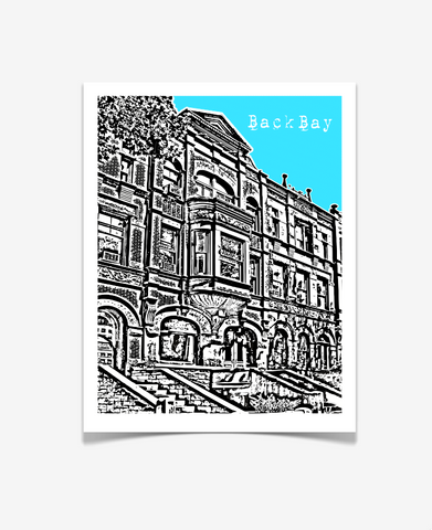 Back Bay Boston Massachusetts Poster