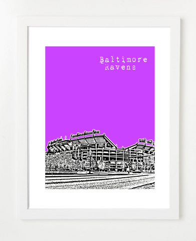 Baltimore Ravens Skyline Art Print and Poster | By BirdAve Posters