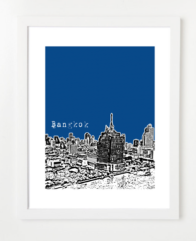 Bangkok Thailand Asia Skyline Art Print and Poster | By BirdAve Posters